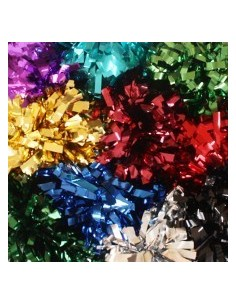 "CUSTOMISED metallic poms 6"" - 8"""