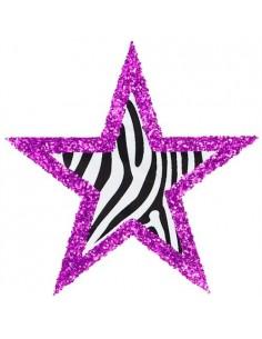 Glitter Stickers Stars - 6 pcs