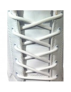 White laces for boots