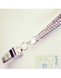 Badge Holder with Rhinestones