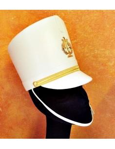 Cappello Majorette Bianco con porta piuma
