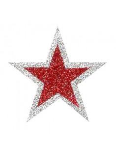 Stelle Adesive Glitterate - conf. 6 pezzi