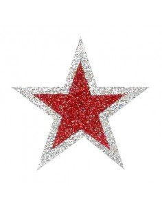 Glitter Stickers Stars - 6 pcs