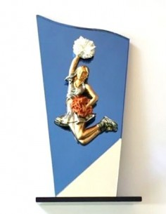 Cheer Trophy with glass base