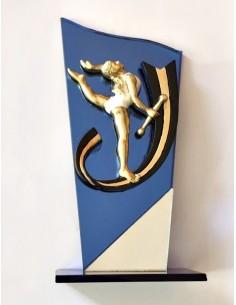 Trofeo Twirling base in vetro