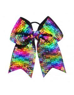 Fiocco Cheer con paillettes Rainbow