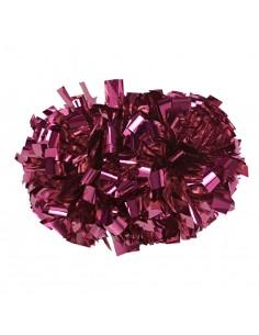 """4"""" poms Metallic Fuchsia Pink"""