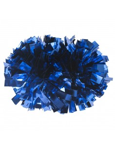 "4"" poms Metallic Royal Blue"