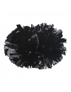 "4"" poms Metallic Black"