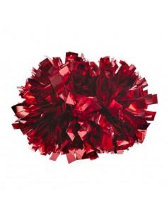 """4"""" poms Metallic Red"""
