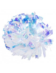 "6"" Crystal Rainbow Poms"