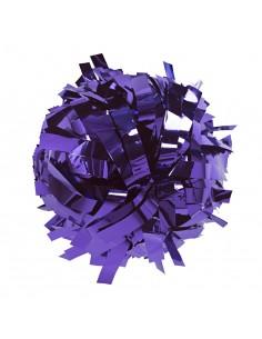 """Pom pon 6"""" metallico viola"""