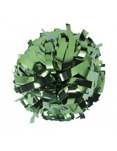 "Metallic poms 6"", green"