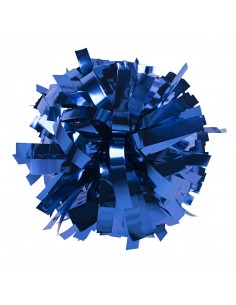 "Metallic poms 6"", royal blue"