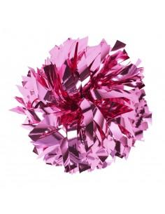 "Pom pon 6"" metallico rosa"