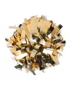 """Pom pon 6"""" metallico oro"""