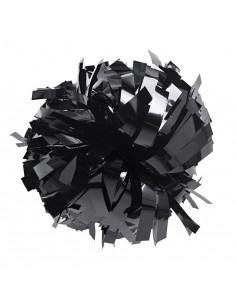 "Metallic poms 6"", black"