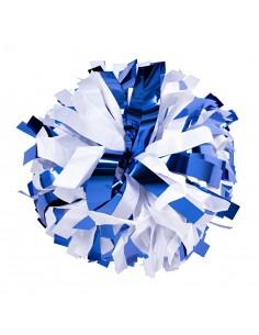 "Pom pon 6"" Metallico blu..."