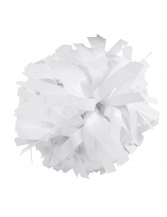 "Metallic poms 6"", white"
