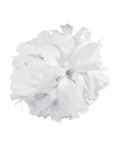 "Pom pon 6"" metallico bianco"