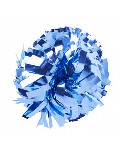 """Pom pon 6"""" metallico Azzurro"""