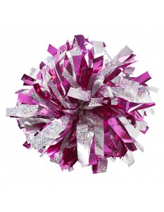 "6"" Poms Holographic Silver..."