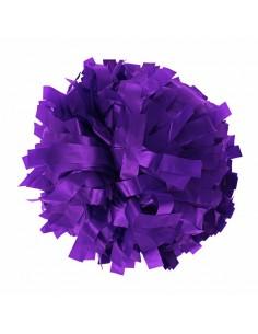 """Plastic poms 6"""" purple"""