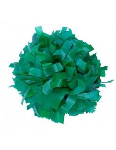 """Pom pon 6"""" plastica verde"""