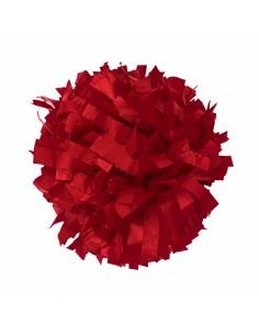 """Plastic poms 6"""" red"""