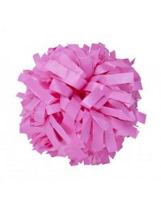 """Pom pon 6"""" plastica rosa"""