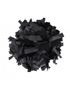"Plastic poms 6"" black"