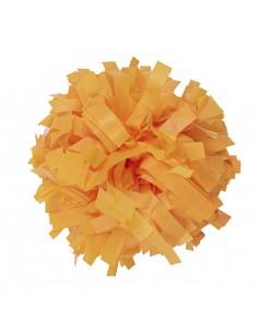 """Plastic poms 6"""" yellow"""