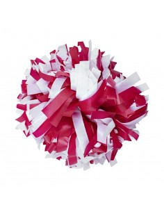 "Plastic poms 6"", red and white"