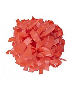 "Pom pon 6"" plastica arancione"