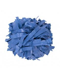 """Plastic poms 6"""" columbia blue"""