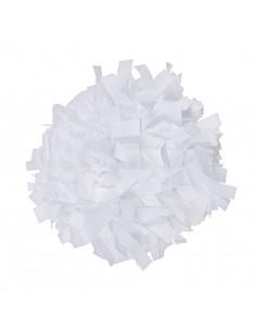 """Plastic poms 6"""" white"""