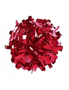 """Pom pon 6"""" metallico rosso"""