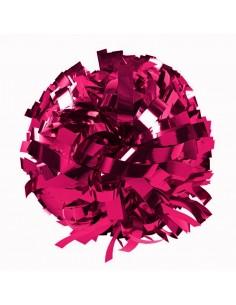 """Metallic poms 6"""", fucsia pink"""