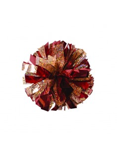 Mini poms - Red and Gold