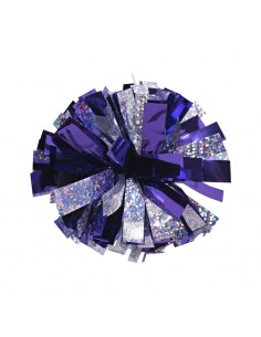 Mini poms - Purple and Silver
