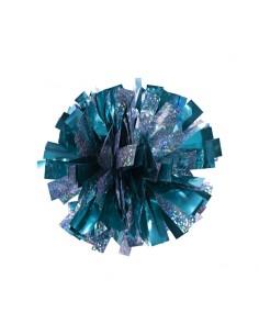 Mini poms - Azzurro e Argento