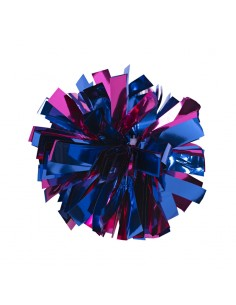 Mini poms - Blue and Dark pink