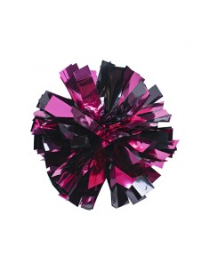 Mini poms - Fuschia and Black