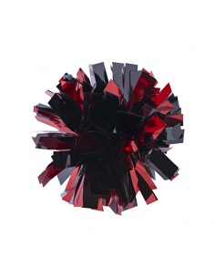 Mini poms - Red and Black