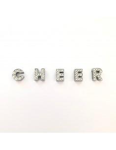 Set lettere in strass C H E...