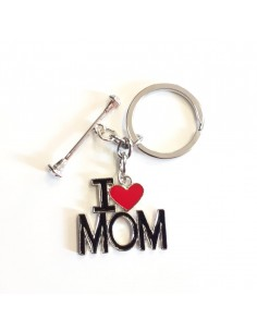 Keychain Twirling I love MOM