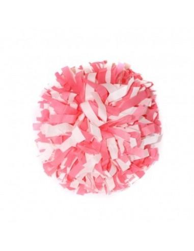 """Pom pon 6"""" PVC Bianco e Rosa"""