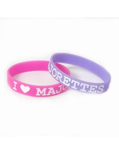 Braccialetto in silicone I Love Majorettes